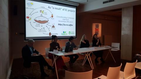 Discussion on Overcoming implementation barriers of climate change mitigation & adaptation options. With Elena Visnar, Karin Zaunberger, Armin Haas, Zoi Vrontisi, and Takeshi Takama