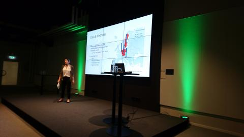 Georgia Savvidou presenting findings from the Swedish case study